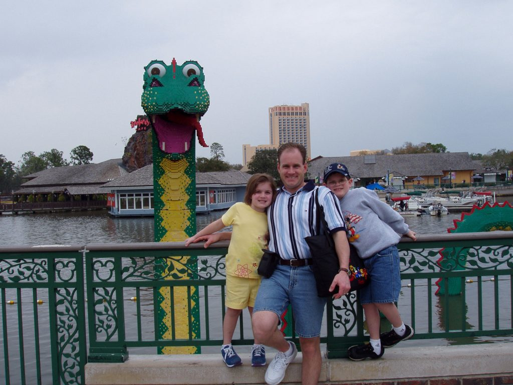 Tony Fremarek at Disney World in not slim days.